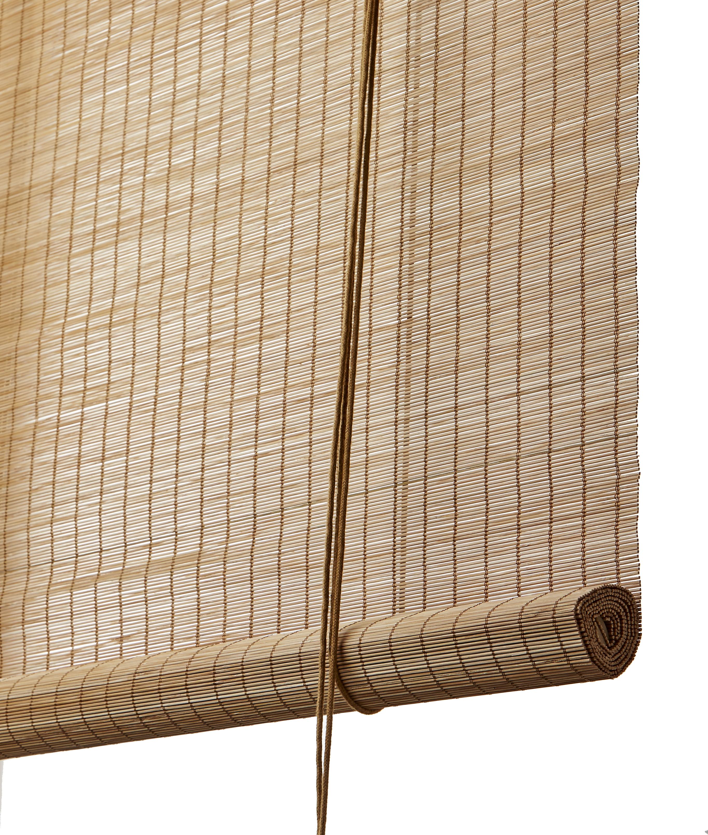897292eb Brun fin bambus rullegardin - Color & Co. Naturlige bambus rullegardiner