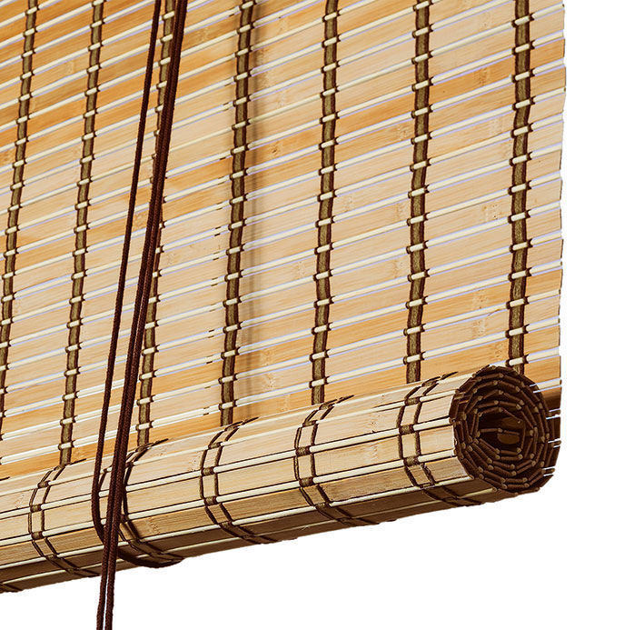 Brown Natural Bamboo Roller Blinds Made To Measure