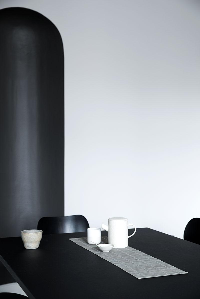 Bambus bordløber. Kuvertløber eller bordløber i naturligt materiale.