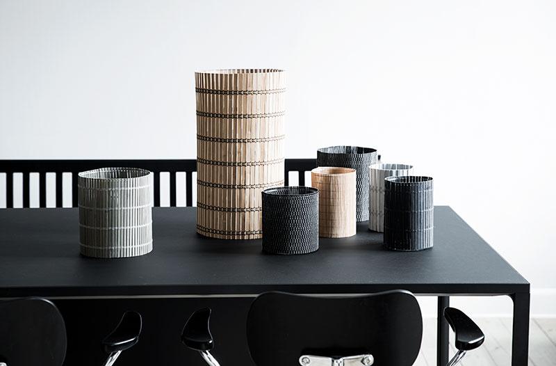 Bambus Interiør. Bæredygtige produkter som jute, bambus, papir og bast i indretningen.
