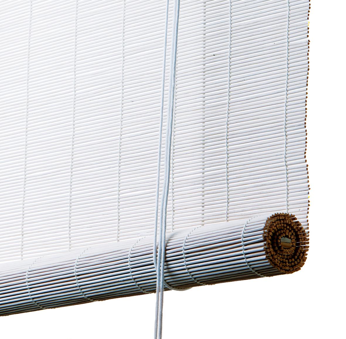 Vellidte Hvidt bambus rullegardin - Color & Co. Vi skærer til efter mål WD-13