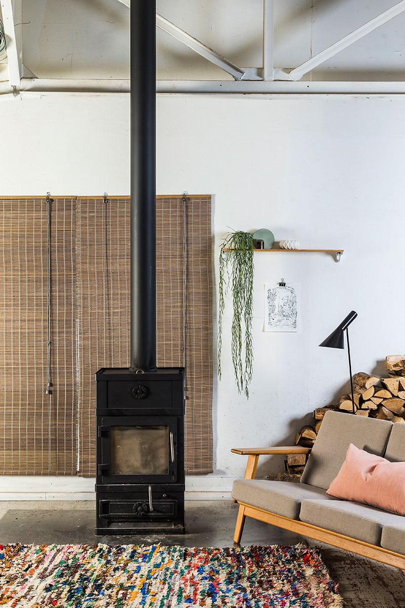 Brun natur bambus rullegardin. gardiner på mål.