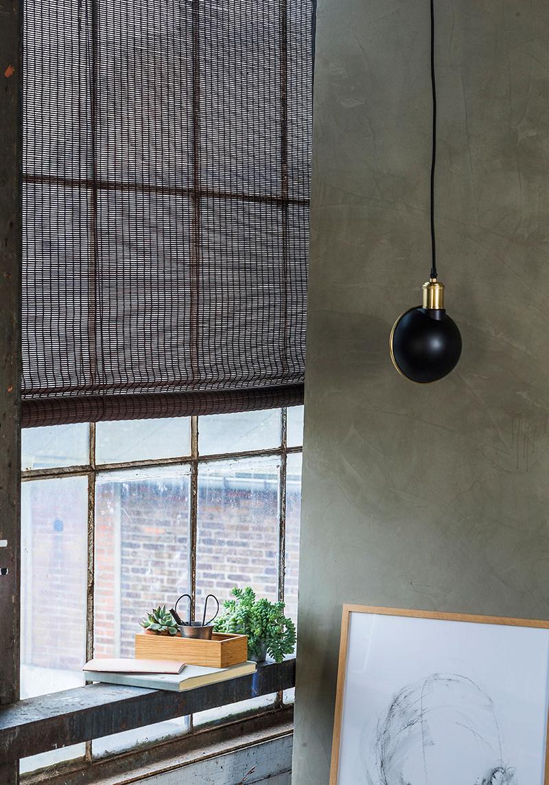 Mørkebrunt bejdset bambus rullegardin