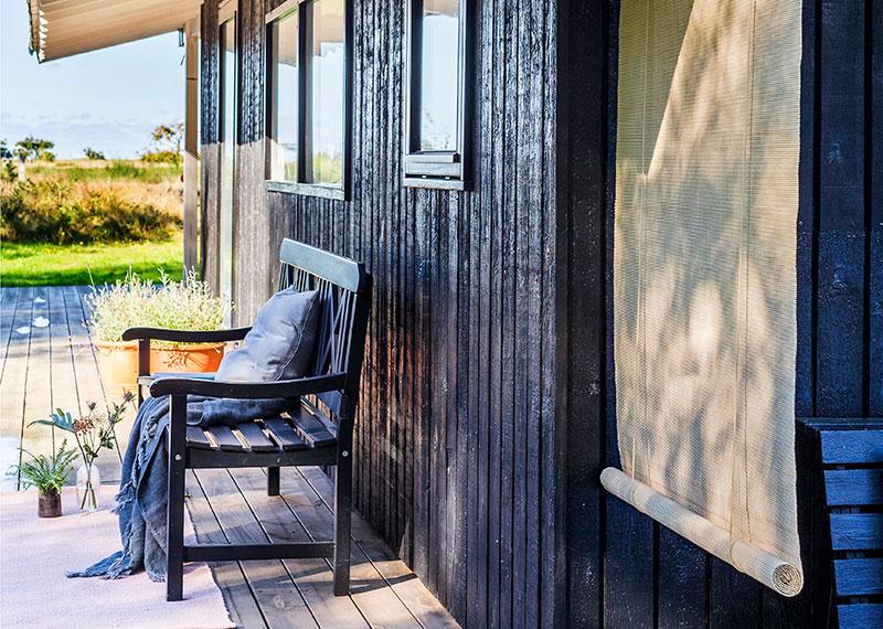 Lys bambus rullegardin. Naturlig bambus til udendørs som rullegardin, rumdeler eller afskærmning.