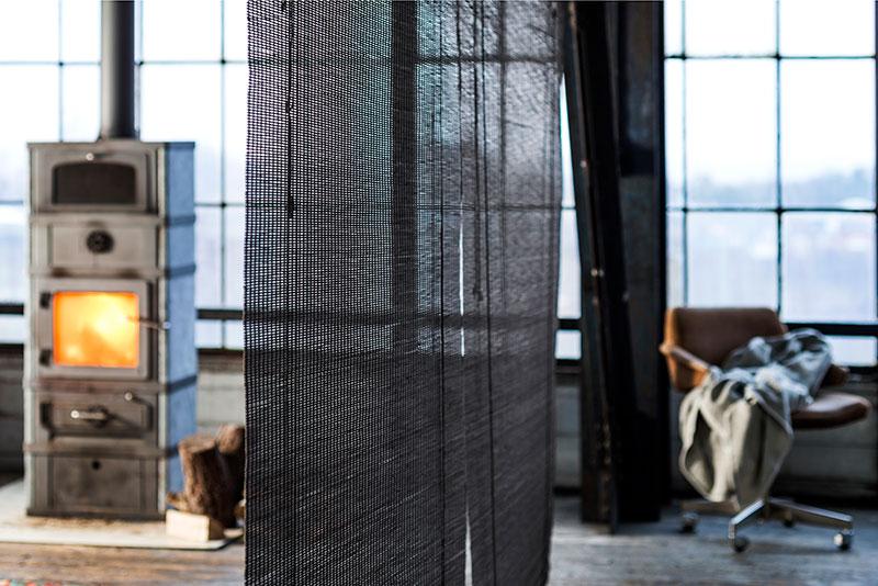 Bambus rullegardiner i mørkebrun, bejdset bambus.