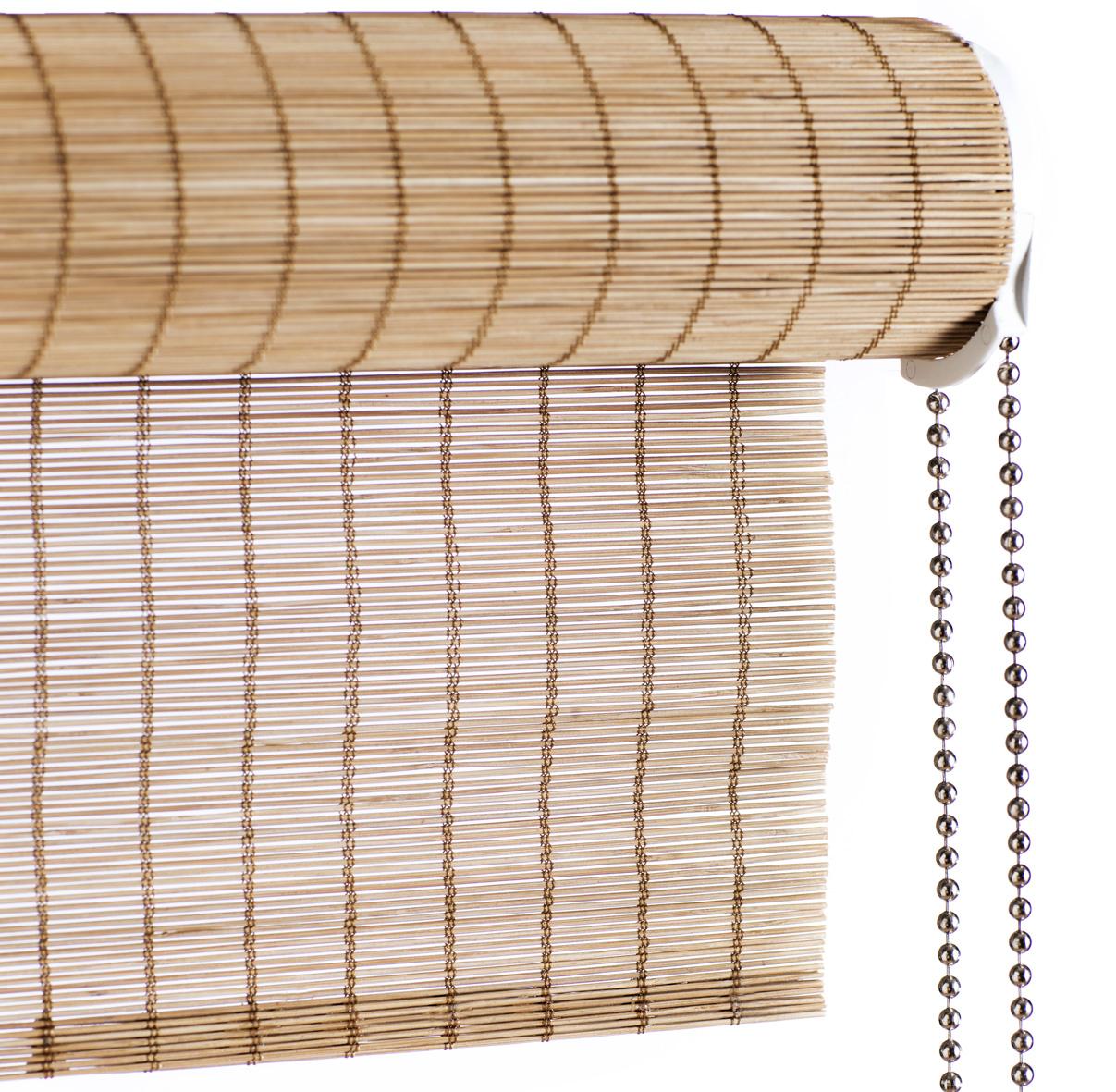 bambus rullegardin Brun fin bambus rullegardin med kædetræk   Laves efter mål bambus rullegardin