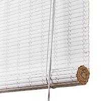 Hvid malet bambus <br>(80535-WHT)